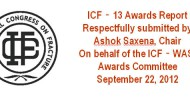 ICF13 Awards Report